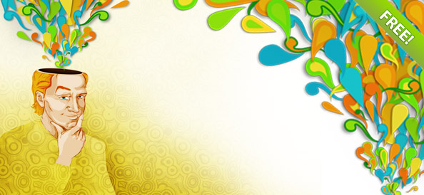 Creative Flow PSD Illustration