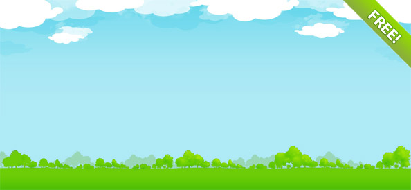 Free Nature Illustration with Sky, Clouds and Trees