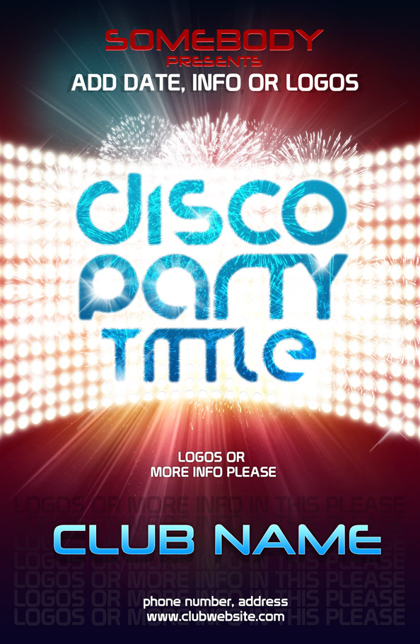 Psd poster template for club event free psd files for Free downloadable poster templates