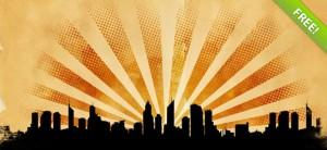 Grunge City Landscape PSD Backgrounds