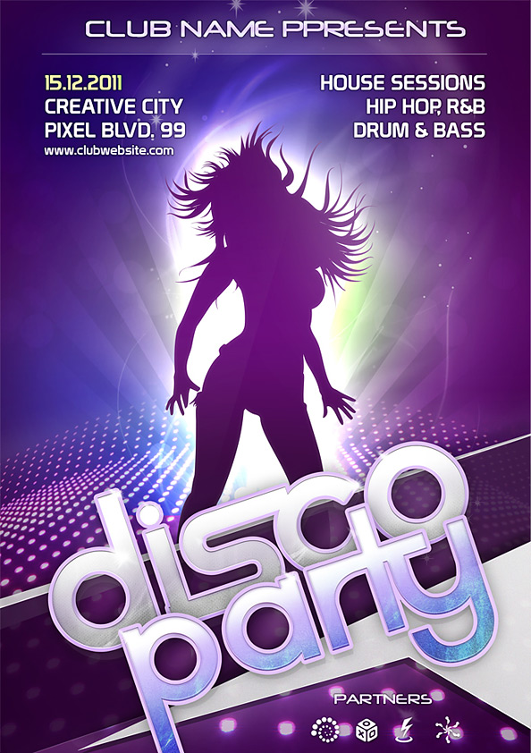 Night Club Flyer Psd Template  Free Psd Files