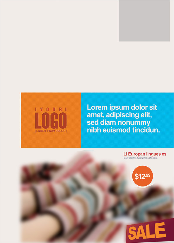 Free PSD Retail Marketing Postcard Preview Back