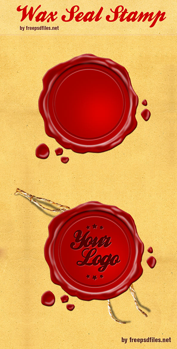 Wax Seal Stamp PSD Preview Big