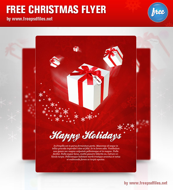 Christmas Flyer PSD Template Preview