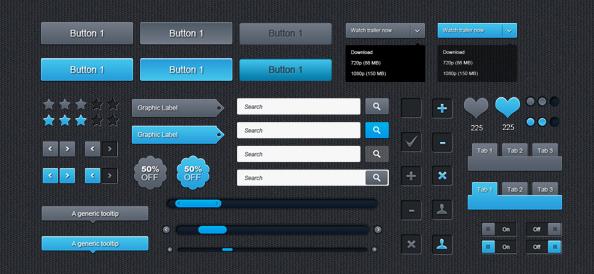 Free UI PSD Set
