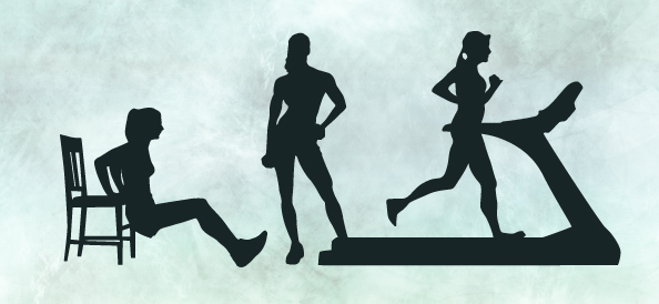 Female Fitness Silhouettes Set 1