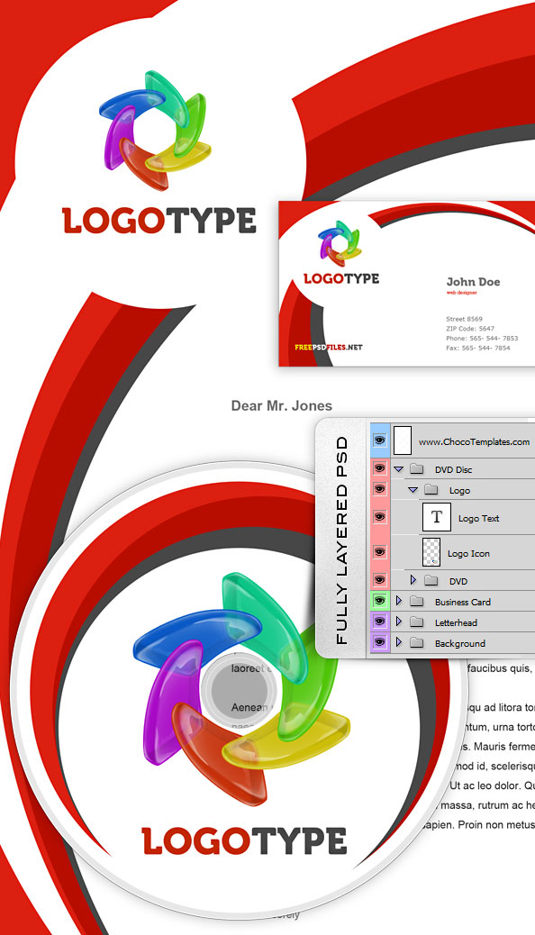 Fully Layered Identity PSD Pack