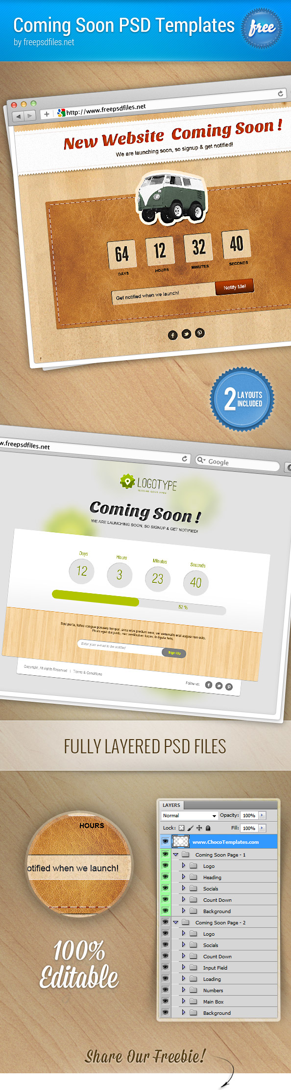 Coming Soon Page PSD Templates Preview