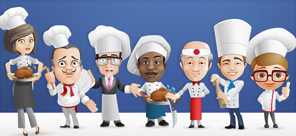 Chef Vector Character Set 1