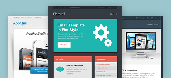 Email Template PSD Set 3 - Free PSD Files