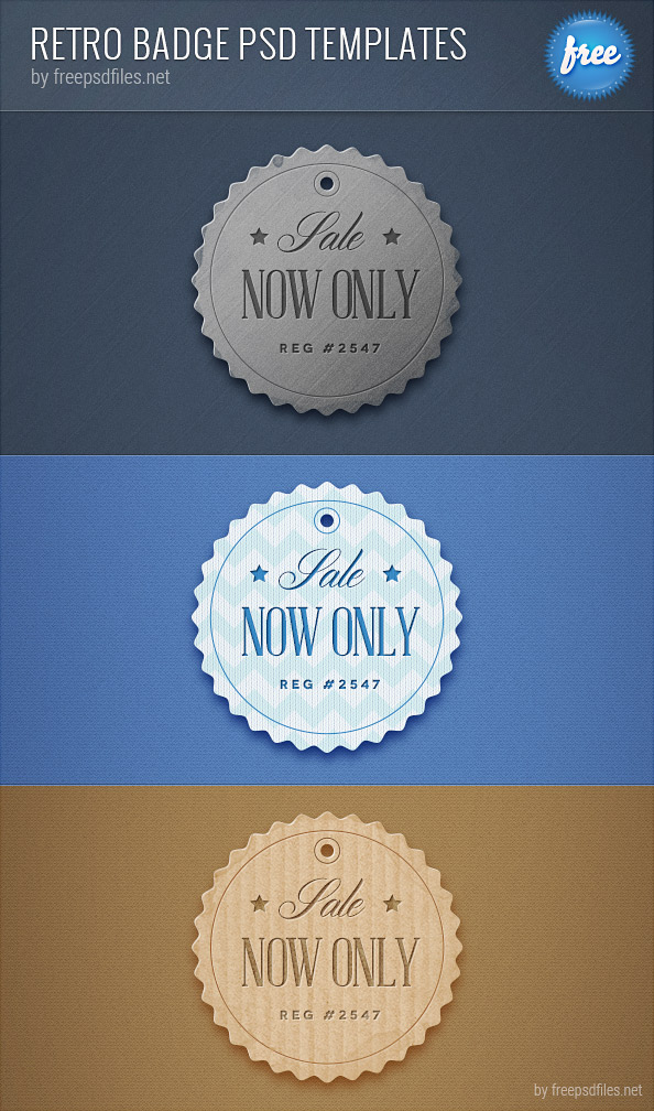 Retro Badge PSD Templates Preview