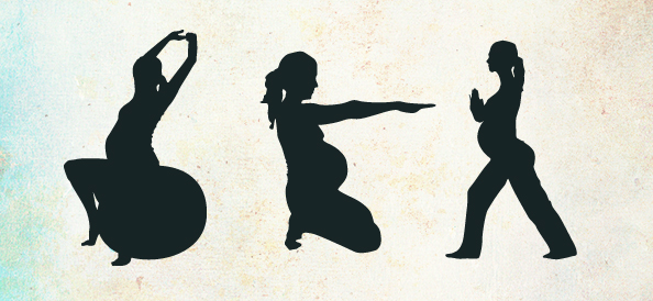 Female Fitness Silhouettes Set 2