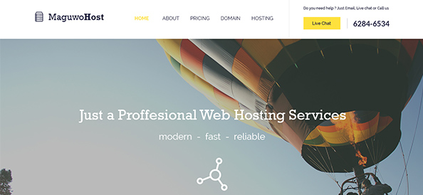 Free PSD Hosting Website Template