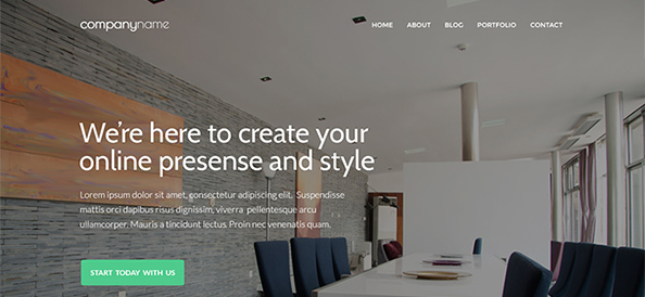 Free PSD Business Website Template