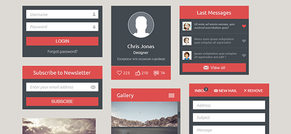 Free PSD Business UI Elements