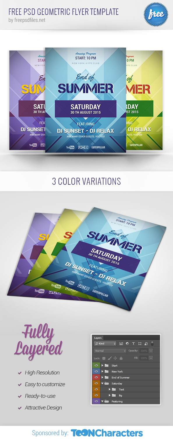 FREE PSD Geometric Flyer Template