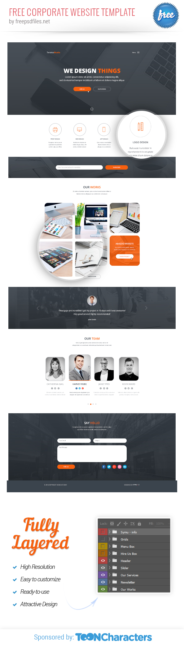 Free Corporate Website Template - Free PSD Files
