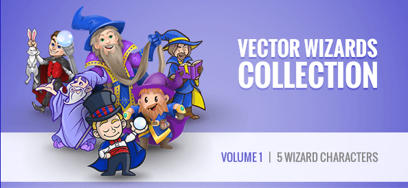 Free Vector Wizard Characters Collection: Vol. 1