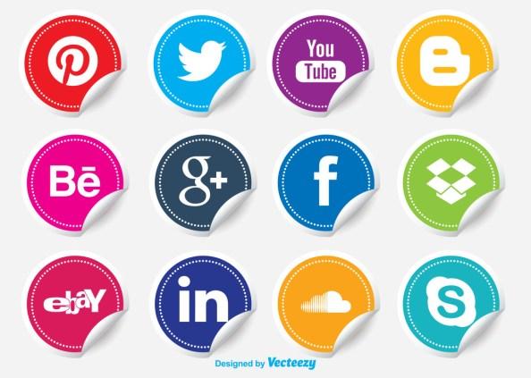 DD Social Media Icon Stickers