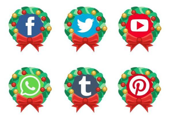 vector-christmas-social-media-icons