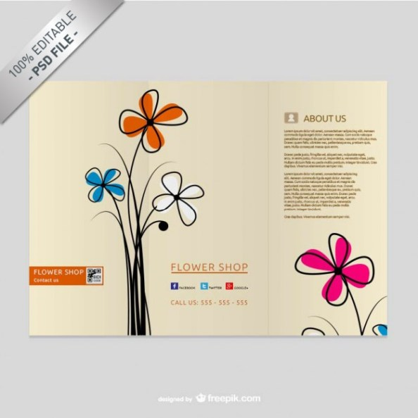brochure-template-with-flowers