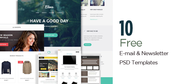 30+ Free PSD Email Templates and Newsletter Designs