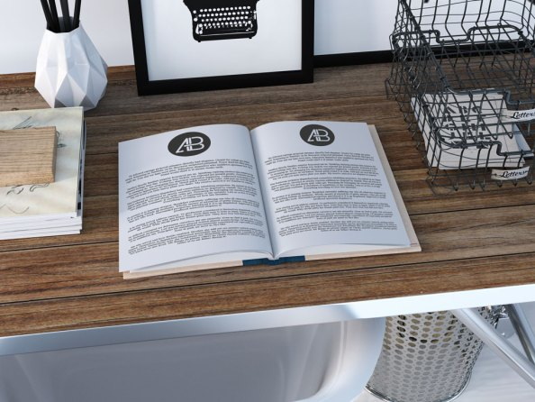 open-book-on-table-mockup-free-psd