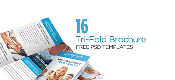 TriFold Brochure Free PSD Templates Grab Edit Print - Tri fold brochure photoshop template