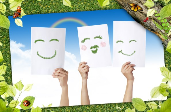 green nature with smiles free psd background 2000x1314