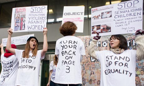 An anti-Page 3 protest.