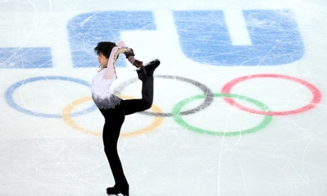 Yuzuru Hanyu of Japan won gold in the men's free skating ion day seven of the Sochi Winter Olympics.