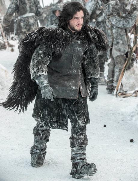Kit Harrington as Jon Snow on location in Iceland