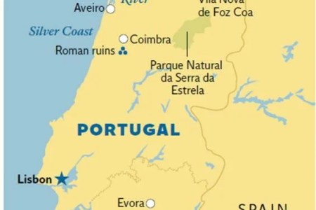 Map Of Silver Coast Portugal - Portugal map silver coast