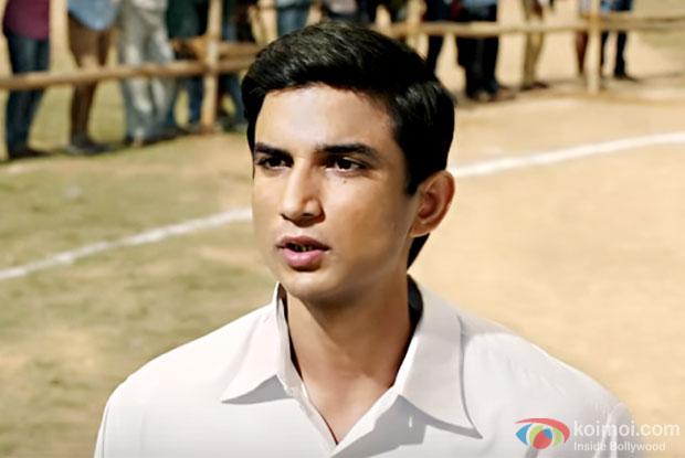 Sushant Singh Rajput in a still from M. S. Dhoni – The Untold Story