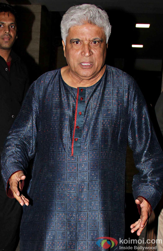 Javed Akhtar at Aamir Khan's residence