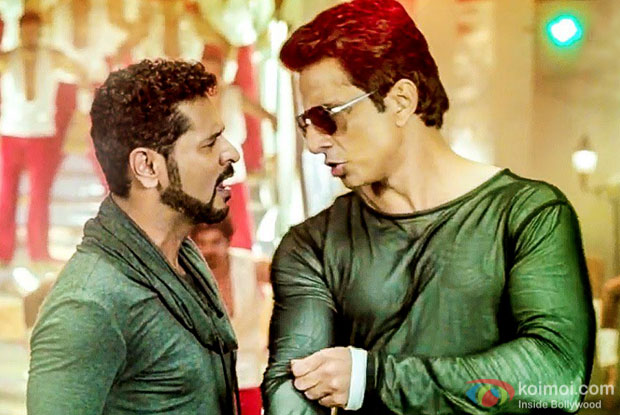 Prabhudheva and Sonu Sood, in a still from Tutak Tutak Tutiya