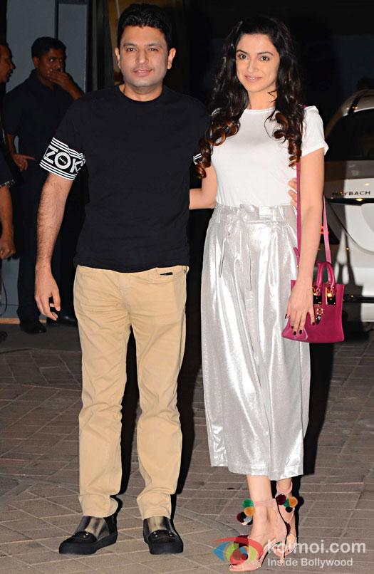 Bhushan Kumar and Divya Khosla Kumar during the screening of OK Jaanu
