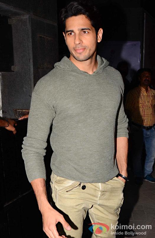 Sidharth Malhotra during the screening of OK Jaanu