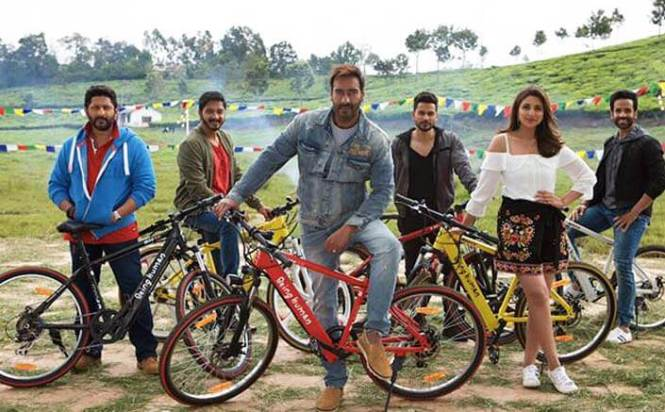 'Golmaal Again' cast uses Salman's Being Human e-cycles