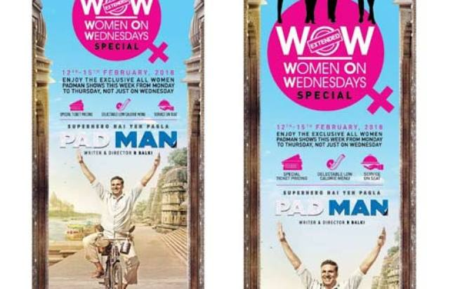 PVR all set for Exclusive All Women Padman Shows across India from 12th-15th February,2018