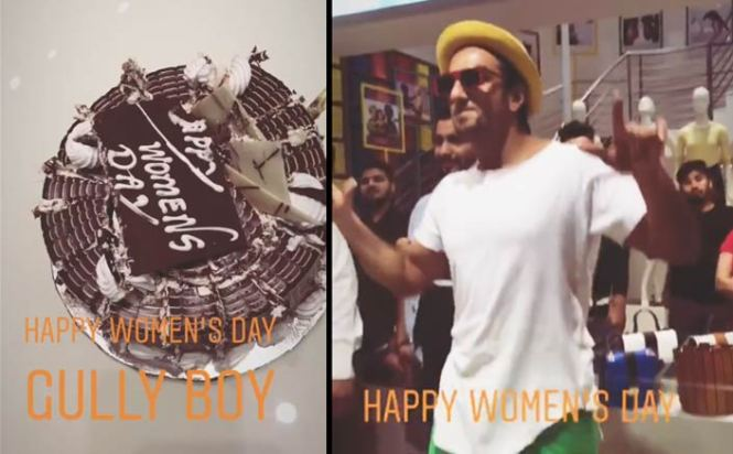 Ranveer Singh celebrate Women's day on the sets of Gully Boy!