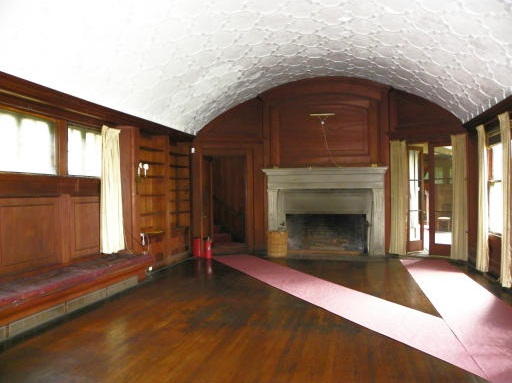 Interior Wood Paneled Barrel Ceiling Charles G Loring House Beverly MA