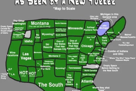 map of the united states according to a new yorker neatorama