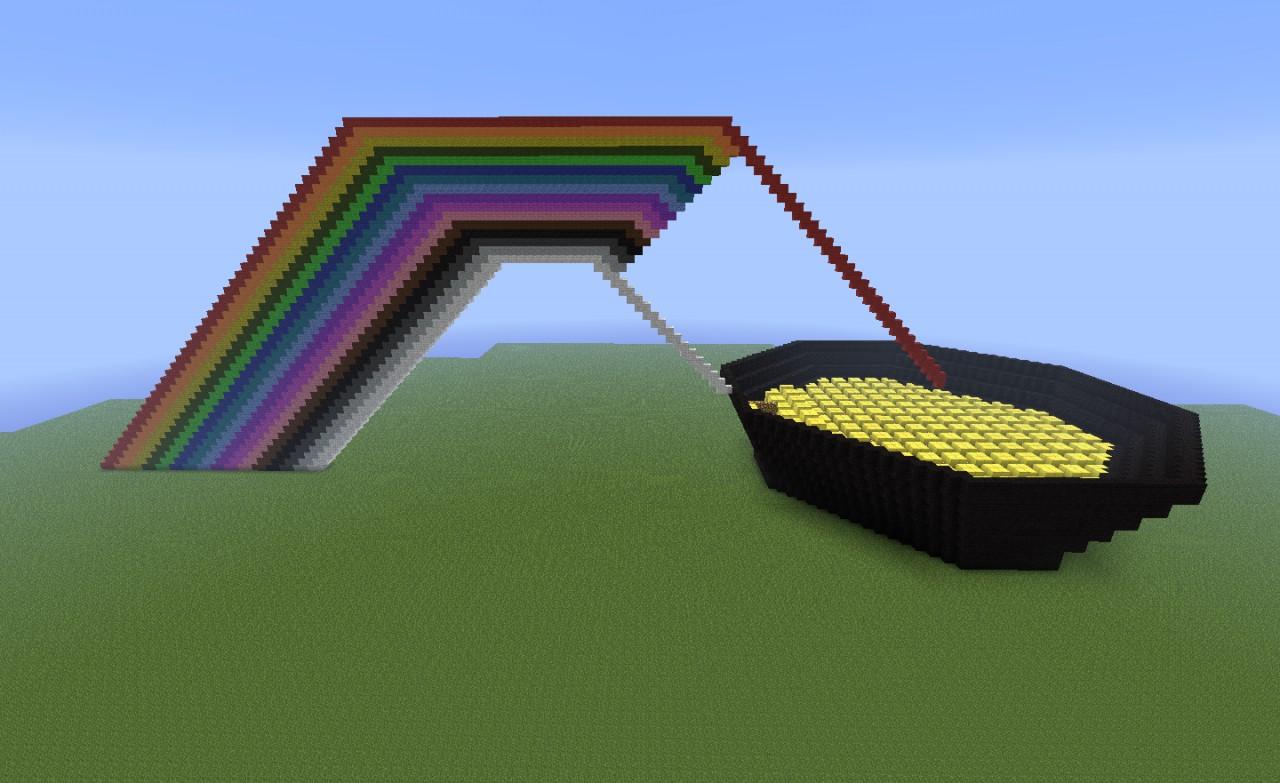 Fabulous G Rainbow Vacuum Pot Nearly Complete Project Piggy Rainbow G Rainbow Costume Rainbow Pot G Minecraft Project Pot Pot nice food Pot Of Gold Rainbow