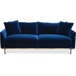 Small Crop Of Blue Velvet Couch