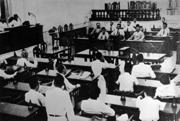 SIdang Badan Penyelidik Usaha-usaha Persiapan Kemerdekaan Indonesia (BPUPKI).