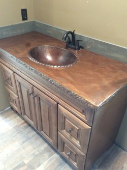 Small Of Stained Concrete Countertops
