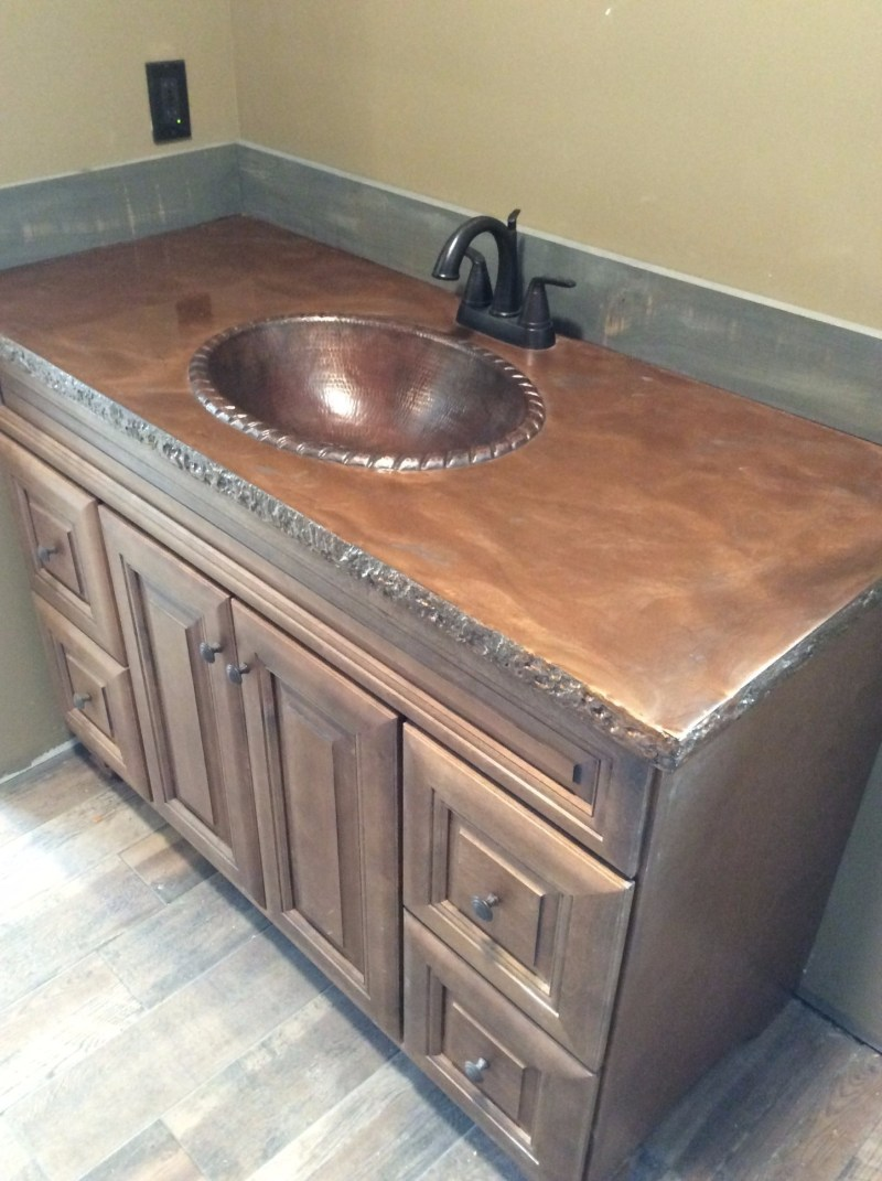 Large Of Stained Concrete Countertops
