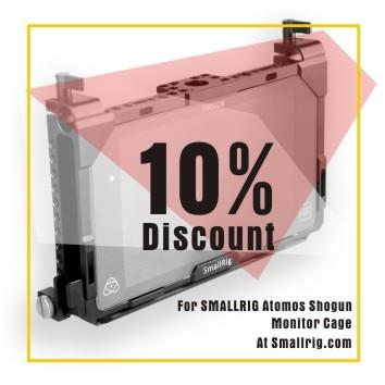 10% off for atomos shogun monitor cage