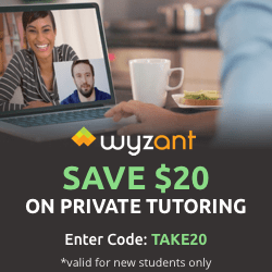 Save $20 with WyzAnt Tutoring
